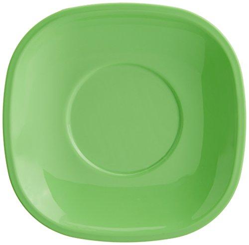 Signoraware Quarter/Snack Plate Set, Set of 6, Parrot Green