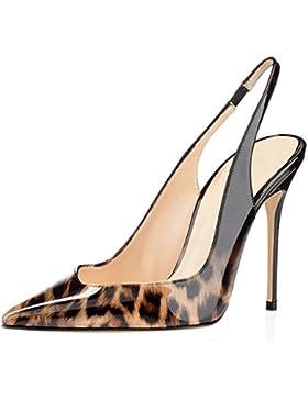 EDEFS - Scarpe con Tacco Donna - Scarpe Col Tacco con Cinturino a T Donna