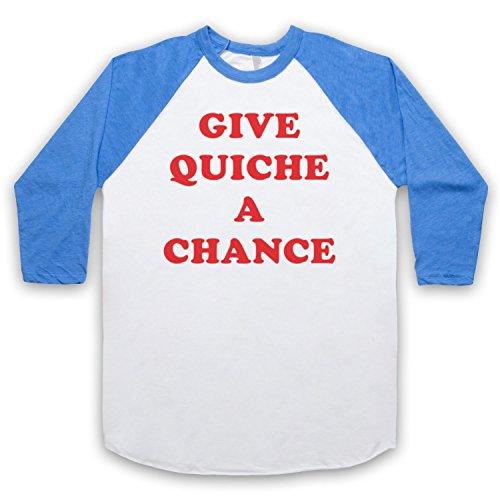 The Guns Of Brixton Red Dwarf Give Quiche A Chance 3/4 Manches Retro T-Shirt de Base-Ball
