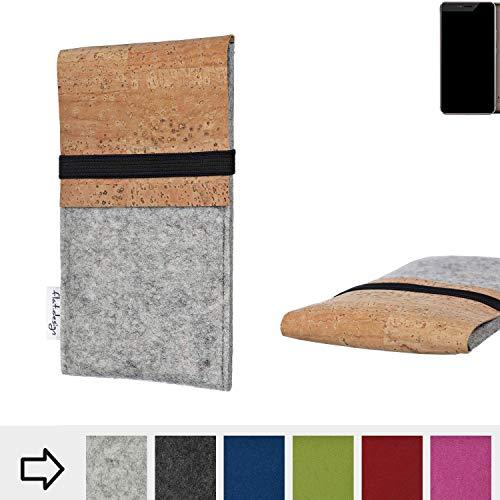 flat.design Handy Hülle SAGRES für Allview X4 Xtreme handgefertigte Handytasche Filz Tasche Schutz Case fair Kork