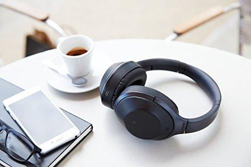 Sony MDR-1000X kabelloser High-Resolution Kopfhörer (Noise Cancelling, Sense Engine, NFC, Bluetooth, bis zu 20 Stunden Akkulaufzeit) schwarz - 4