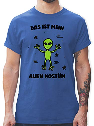 Karneval & Fasching - Das ist Mein Alien Kostüm - M - Royalblau - L190 - Herren T-Shirt und Männer Tshirt (Basic Alien Kostüm)