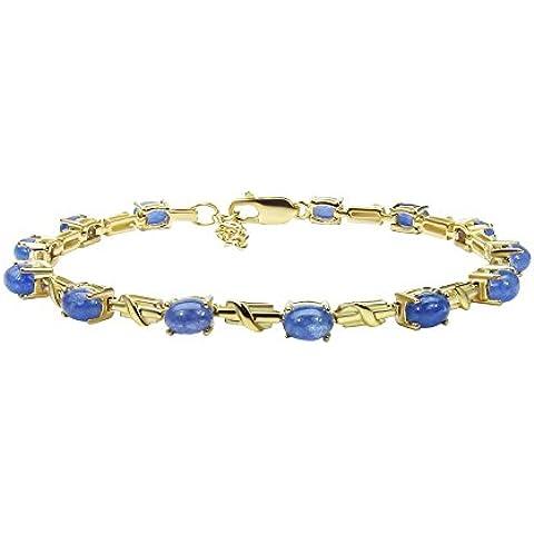 Goldancé - Bracciale da Donna argento sterling 925 placcati in oro vera Tanzanite - B201TAN_SGP