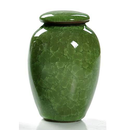 HUIJU Feuerbestattungs-Urnen-Andenken-Keramik Für Haustier Und Menschliche Asche-Hält Bis Zu 35 Kubikzoll Asche (12Cm * 8Cm),C