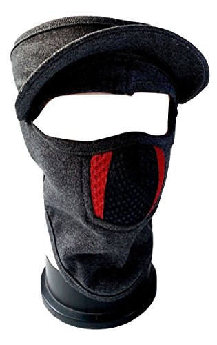etijaarath cap style ninja mask grey color with red & black nose lines covers full face, bike riders pollution safey mask with velcro closure eTijaarath Cap Style Ninja Mask Grey Color With Red & Black Nose Lines Covers Full Face, Bike Riders Pollution Safey Mask With Velcro Closure 41 OQ5S0iAL