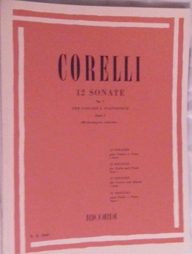 CORELLI 12 sonate per violino e b. c. Op. 5. Parte prima (n. 1 - 6) ABBADO