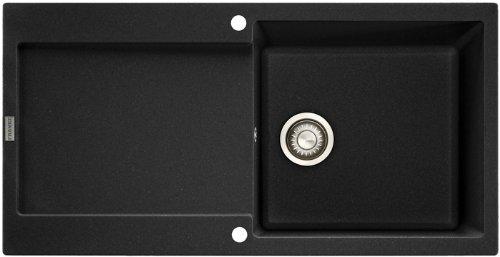 Franke Maris MRG 611-100 Onyx Granit-Spüle Schwarz Spülbecken Küchenspüle Einbau