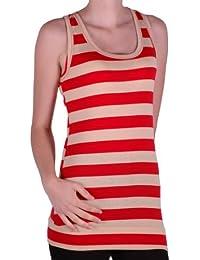 Eyecatch - Kerry Stripe Damen Vest Top One Size