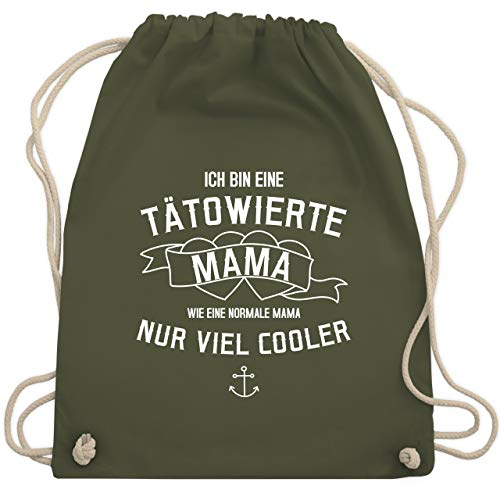 eine tätowierte Mama - Unisize - Olivgrün - WM110 - Turnbeutel & Gym Bag ()