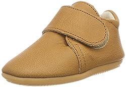 Däumling Unisex Baby LAN Sneaker, Braun (Nappa Cf Sattel 35), 17 EU