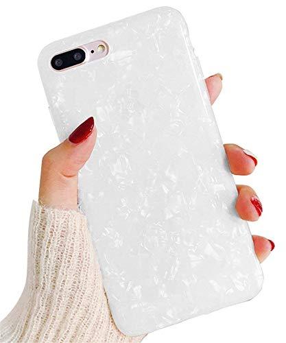 Hishiny Kompatibel mit iPhone 8 Plus Hülle, Handyhülle für 7 Plus, Soft Silikon Ultra Dünn TPU Bumper Schutzhülle Case Premium Kratzfest Schutzschale Backcover für iPhone 7 Plus/8 Plus