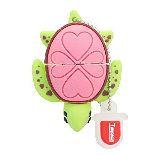 16gb usb flash drive usb - cartoni animali 2,0 emory bastone mini bella tartaruga verde microdrive