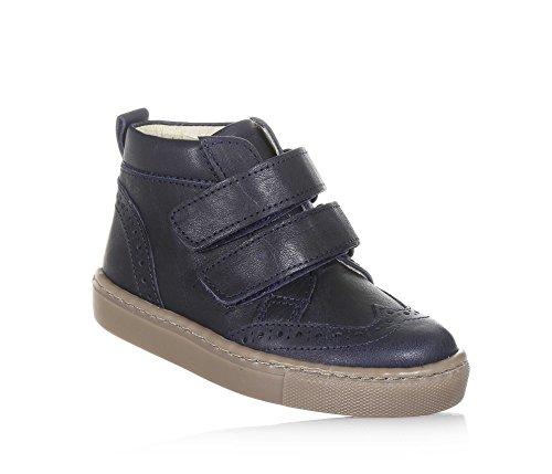 PÈPÈ - Chaussure bleue en cuir, made in Italy, look chic et contemporain, avec double fermeture, Fille, Filles-30