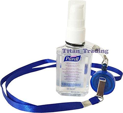 yoyo-neck-lanyard-retractable-reel-belt-clip-free-purell-60ml-hand-sanitizer-bottle-blue-lanyard