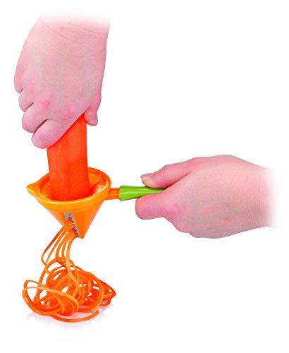 Tescoma Presto Carving Julienneschneider/Spiralschneider, aus Edelstahl, Grün/Orange - 2
