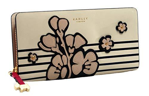 Radley Große Geldbörse aus Leder, mit Reißverschluss, Weiden-Kirschblüte, Kreideblüten