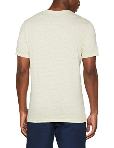 JACK & JONES Herren T-Shirt Jortrue Tee SS Crew & V-Neck Grau (Mirage Gray Fit:Reg Crew Neck)