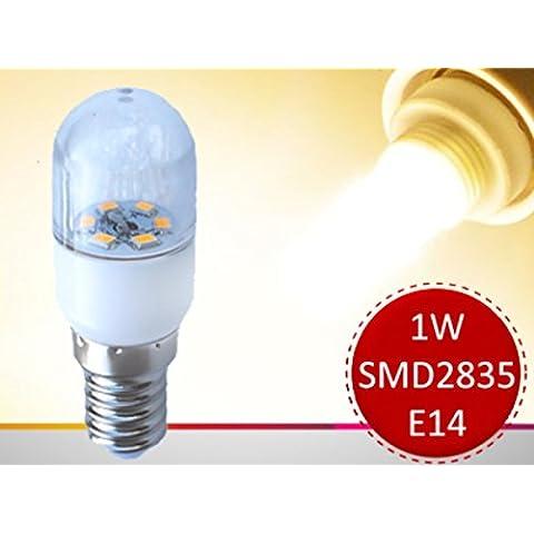 4pezzi set 1W E14230V 3000K Mini–Lampadina LED lampadina lampadine per forno a microonde frigorifero aspirante - Forno Pera