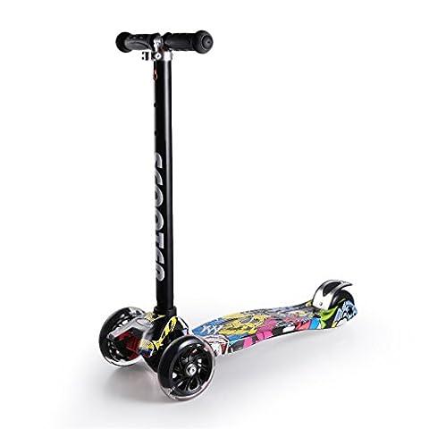 Kinderscooter, YKS faltbare Scooter Roller Tretroller Cityroller Scooter Roller, geeignet für: 3-5 Jahre Kinder