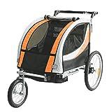 Tiggo Rimorchio Porta-Bimbo per Bicicletta con Set da Jogging - Arancione -...