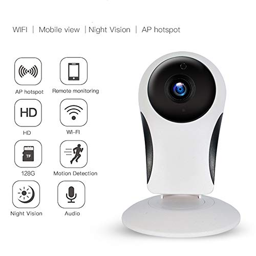 RENYAYA 1280P Home Camera, Security Camera Wireless IP Surveillance Camera mit Night Vision Activity Detection Alert Baby Monitor, Remote Monitor mit iOS, Android App (Activity Baby Monitor)
