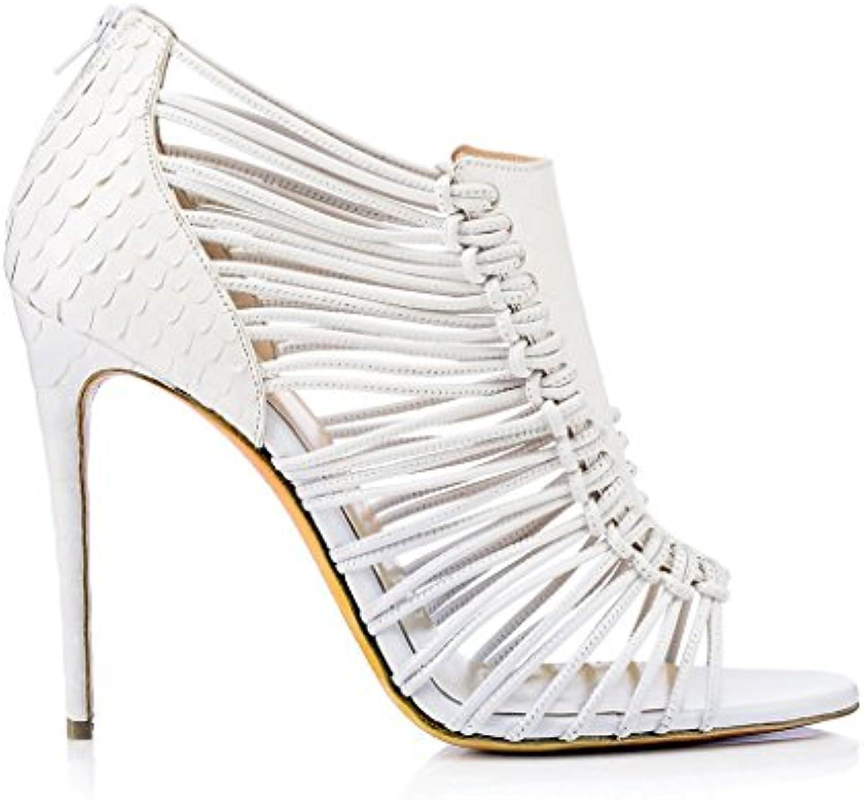 Women s High-Heeled Sandals Leather Fish Hollow Mouth Fine Belt Sandals  Hollow 30294 Ladies High Heels (Heel Height 11CM-13CM) B07CQRXKNJ Parent  13d6c61 138b2f7c8ce7