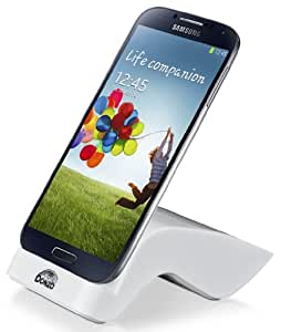 DONZO USB Docking-Station|Ladegerät für Samsung Galaxy S4 / I9500 / I9505 inkl. micro-USB Daten-Kabel Weiß