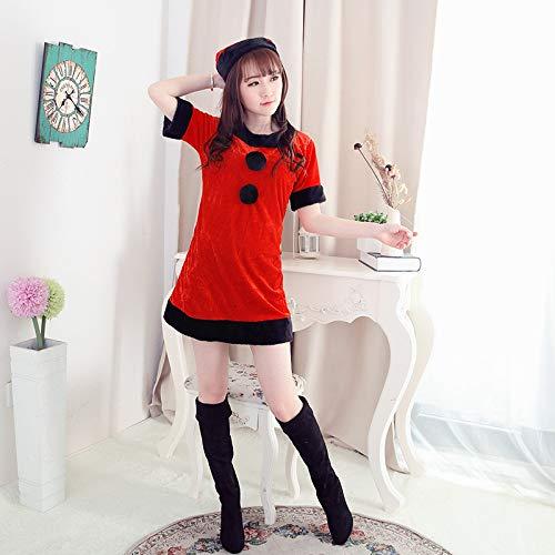 Yunfeng weihnachtsmann kostüm Damen Weihnachten Kostüm Leistung Kleidung Little Red Riding Hood Halloween-Kostüme Kostüm Erwachsene Weihnachtsfeier Cosplay Kostüm