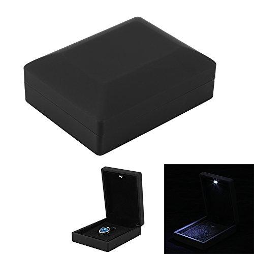 Schmuckschatulle, LED beleuchteter Ring/Anhänger/Armband/Halskette Schmuck-Vitrine Geschenke Aufbewahrungsbox(Anhänger Box Größe) (Aufbewahrungsbox Anhänger)