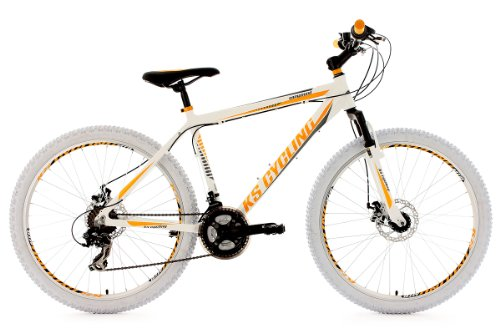 KS Cycling Fahrrad Mountainbike Hardtail Compound 46 cm, Weiß, 26, 100M