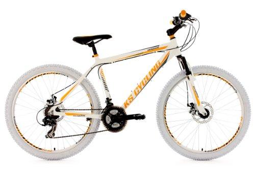 KS CYCLING COMPOUND 100M - BICICLETA DE MONTAñA ENDURO  COLOR BLANCO / AMARILLO  TALLA M (165-172 CM)  RUEDAS 26  CUADRO 46 CM