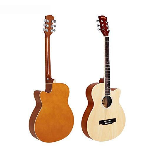Hjyi Akustische Gitarre Glanz Fichte Gitarre Sapele Akustische Gitarre Anfänger (39 Zoll) (Gitarre 39 Akustische)
