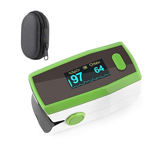 Finger Pulsoximete Oximeter Blood Oxygen Saturation Monitor Oximeter Fingeroximeter Professioneller Digitaler Nagel-Herzfrequenzmesser FüR Zu Hause Outdoor AktivitäTen,GrüN