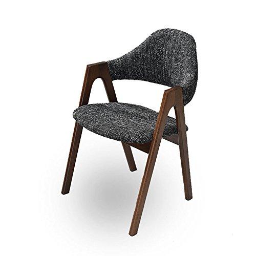 Hocker - Esszimmerstuhl aus Massivem Holz/Stoff Moderner minimalistischer einzelner Arbeitsstuhl/Nordic Armlehne Designer Bürostuhl/Computer Stuhl (Dreifarbig optional) 52 * 44 * 80