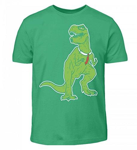 Nerd Musik Kostüm - Hochwertiges Kinder T-Shirt - Tyrannosaurus Nerd - Dinosaurier T-Rex Dino Urzeit Archäologie Brille Rex Urknall Geschenk
