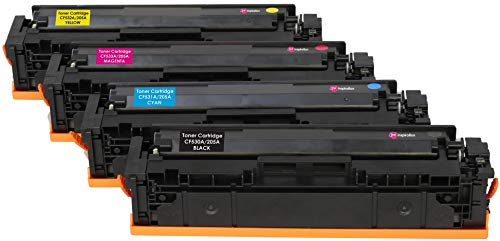 4er Set INK INSPIRATION® Premium Toner für HP Color Laserjet Pro M154a M154nw MFP M180n M180nw M181fw | kompatibel zu HP 205A CF530A CF531A CF532A CF533A