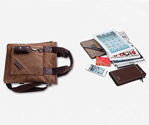 Super moderno Vintage Tela Borsa a tracolla Tempo libero viaggio borsa crossbody borsa a tracolla, Uomo, Armygreen Armygreen