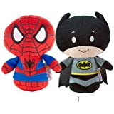 Hallmark Itty Bitty Set of 2 Batman and Spiderman Soft Toy