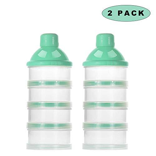Sunshine smile milchpulver aufbewahrung,Milchpulver-Spender,Tragbarer Baby Milchpulver Behälter,milchpulver container mit Gleichmacher (Grün)