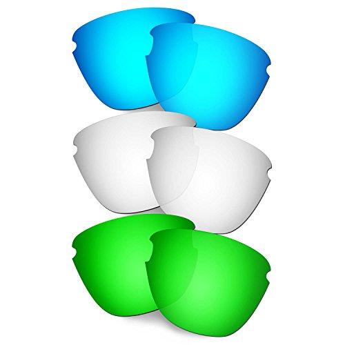 HKUCO Verstärken Ersatz-Brillengläser für Oakley Frogskins Lite Blau/Titan/Grün Sonnenbrille