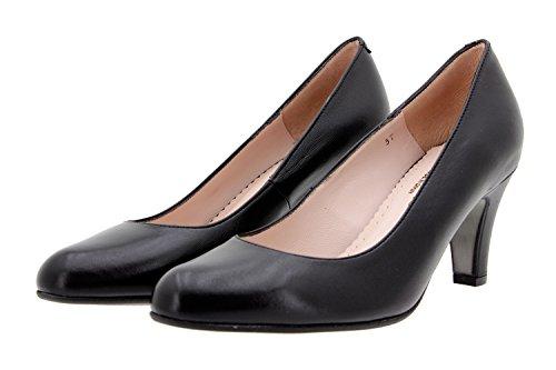 Chaussure femme confort en cuir Piesanto 9201 escarpin confortables amples Noir