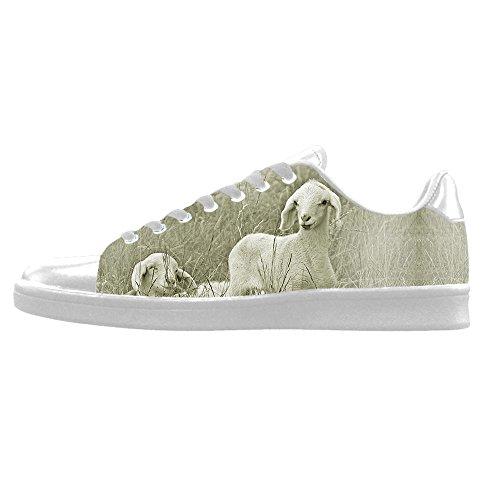 Dalliy Schaf Muster Men's Canvas shoes Schuhe Lace-up High-top Sneakers Segeltuchschuhe Leinwand-Schuh-Turnschuhe (Kansas Royals-muster City)