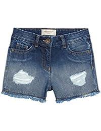 next Niñas Pantalones Cortos Vaqueros Rotos (3-16 Años) Corte Estándar