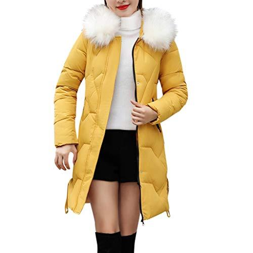 Abrigo Invierno Mujer Cortaviento con Capucha Chaquetas de Mujer Invierno Abrigo Largo Parka Mujer Talla Grande Sueter Cremallera