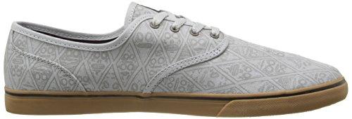 Emerica homme skateschuh wino cruiser x fos skate shoes Gris - grey/gum