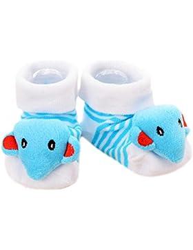 3 pares de bebé recién nacido antideslizante calcetines del niño calcetines antideslizantes calientes regalo del...