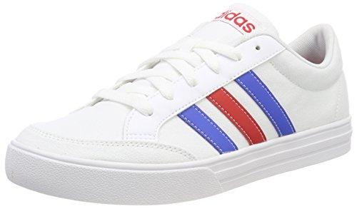 adidas Vs Set, Scarpe da Tennis Uomo, Bianco Ftwwht/Blue/Scarle, 45 1/3 EU
