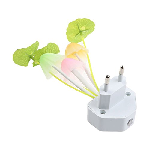 Descripción:Te enamorarás de esta lámpara con setas. Algunas setas graciosas, unas hojas frescas, una bonita flor pequeña, hierba verde crujiente, y maceta de cerámica blanca: Guau, una hermosa planta en una maceta. ¿Te puedes creer que es una lámpar...