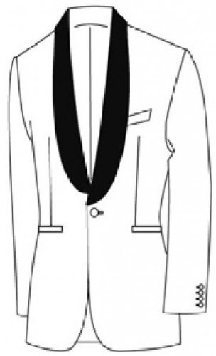 Masterhand - Blazer - Uni - Homme blanc Weiß Weiß
