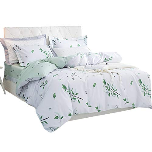 QNJM Bettbezug-Set, Kissenbezüge Aus Baumwolle Bettbezüge Für Bettbezüge, Komplette Reversible Bettwäsche, Bettwäsche 4-Piece-Tröster-Set All Season (Farbe : A, größe : 200x230cm) -